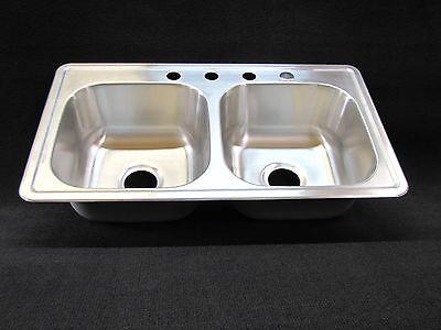 33 Quot X 19 Quot X 8 Quot Extra Deep Double Bowl Kitchen Sink