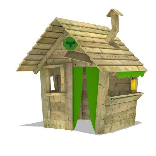FATMOOSE HippoHouse Heavy XXL Kinder-Spielhaus Holz mit breiter Ladentheke
