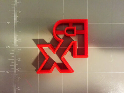 Choose Your Own Size RX Logo Cookie Cutter Small to Large Sizes