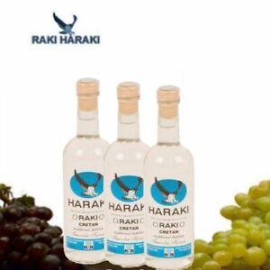 Haraki-Tresterbrand-aus-Kreta-3x-200ml-ohne-Anis-Patsakis-Tsipouro-Tsikoudia