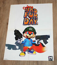 Nintendo 64 Conker's Bad Fur Day Mickey's Speedway USA rare Poster 58x42cm