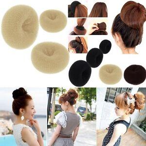Womens-Girl-039-s-HOT-Hair-Bun-Ring-Donut-Shaper-Hair-Styler-Maker-3-Sizes-S-M-L