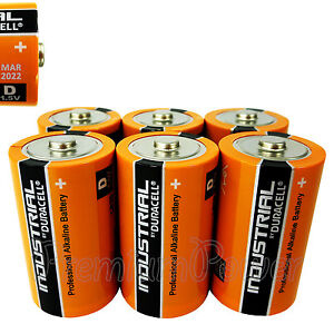 6 x duracell d size batteries industrial procell alkaline lr20 mn1300 mono 1 5v ebay. Black Bedroom Furniture Sets. Home Design Ideas