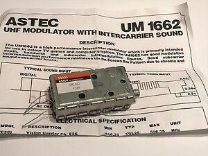 ASTEC UM1662 UHF RF MODULATOR WITH SOUND                                   blb22