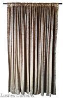 Gold 144 Inch H Velvet Curtain Long Panel High Ceiling Window Treatment Drape
