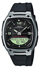 Casio Men's Analogue & Digital Resin Strap Illuminator Watch, Black, AW-81-1A1VE