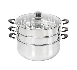 CONCORD-Stainless-Steel-3-Tier-Steamer-Steam-Pot-Cookware-Avail-in-3-Sizes