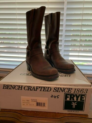 Frye Womens Size 7.5 Harness 12R Tan Leather Squa… - image 1