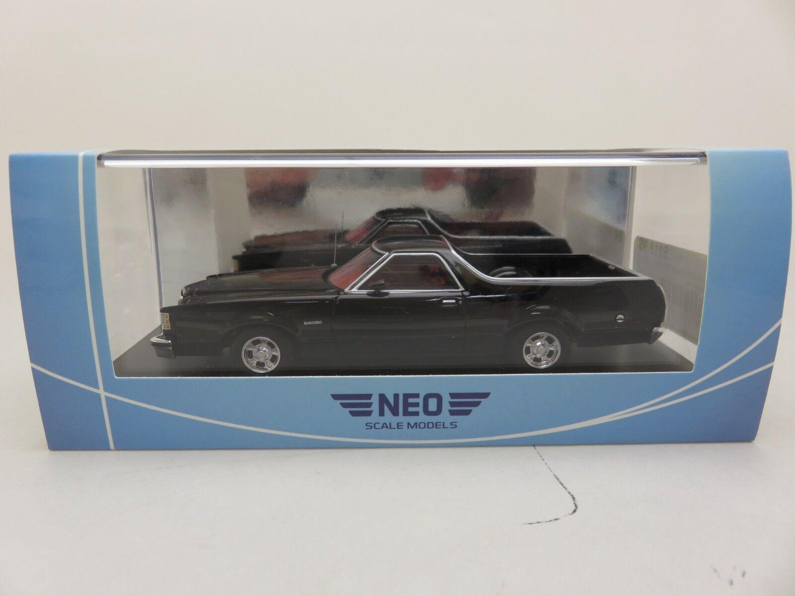 Ford Ranchero 1979 zwart NEO hars model 1 43 46885