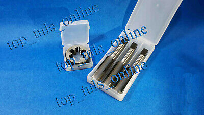 """4x 3//32/"""" x 48 BSW TPI HIGH CARBON STEEL TAPS AND DIE PLASTIC BOXED"""