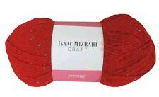 6 Lot Isaac Mizrahi Premier Broadway Craft Yarn Red Metallic Sparkle Christmas