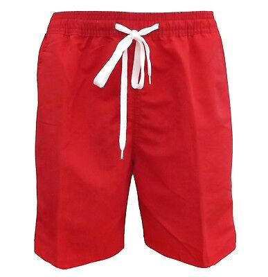 Soul Star Men's Lana Swim Beach Shorts Red
