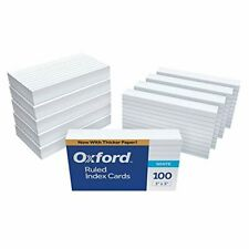 Oxford 31ee Ruled Index Cards 3 X 5 White 1000 Cards 10 Packs Of 100 31