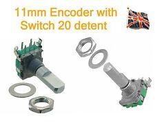 11mm Encoder with switch (Horizontal) side adjust 20 detent EN11