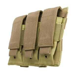 VISM-Triple-Pistol-Magazine-Pouch-MOLLE-Tactical-Duty-Gear-Hunting-COYO-TAN