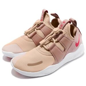 4850340f61848 Nike Wmns Free RN CMTR 2018 Beige Pink Womens Lifestyle Running ...