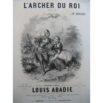 Abadie Louis Der Bogenschütze Von Der König Chant Piano Ca1850 Partitur