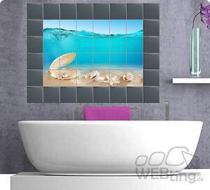 fliesenaufkleber fliesenbild fliesen aufkleber sticker badezimmer bad k che deko ebay. Black Bedroom Furniture Sets. Home Design Ideas
