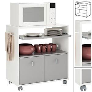 k chenwagen k chentrolley onyx 716 wei holz rollwagen k chenschrank k chenregal ebay. Black Bedroom Furniture Sets. Home Design Ideas