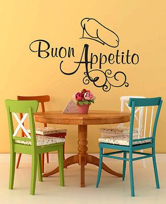 01006 Wall Stickers Adesivi Murali Decorativi Baffo Buon Appetito 80x46cm