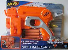 Brand New NERF N-Strike NITE FINDER EX-3 Dart BLASTER