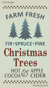 Farm Fresh Christmas Trees.Details About Joanie 20 Tall Stencil Farm Fresh Christmas Trees Pine Spruce Hot Cocoa Cider