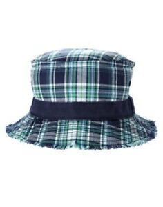 GYMBOREE BUG EXPERT MULTI COLOR PLAID BUCKET HAT 3 4 5 7 8 9 10 NWT