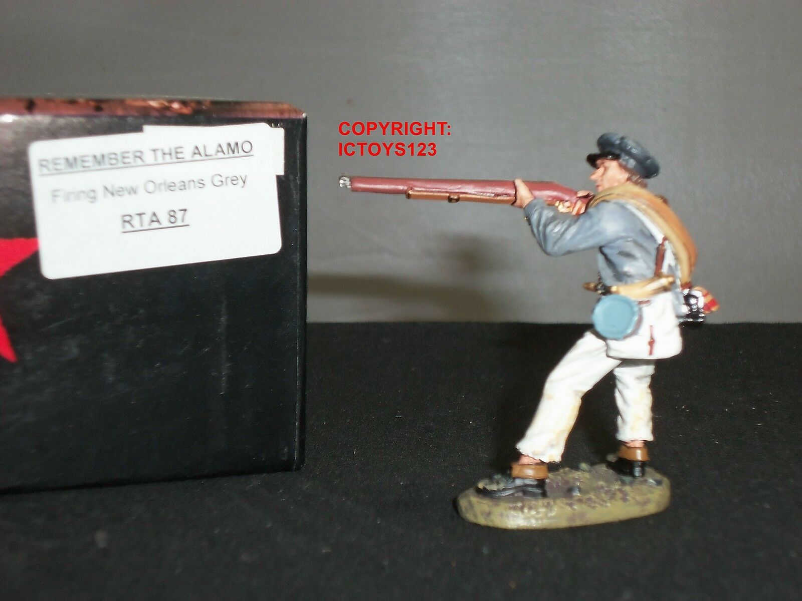 KING AND COUNTRY RTA87 ALAMO NEW ORLEANS GREY STANDING FIRING TOY SOLDIER FIGURE