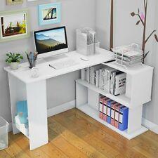 L Shape Corner Computer Desk Mdf Laptop Pc Table Workstation Study Home Office