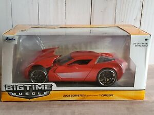 Jada-Bigtime-Muscle-2009-Chevrolet-Corvette-Stingray-Concept-1-24-escala-Diecast-Car