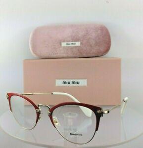 d22a1e51ee77 Brand New Authentic Miu Miu Eyeglasses VMU 50Q VYI-1O1 Red Gold ...