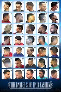 24 X 36 Barber Shop Poster Modern Hair Styles For Men