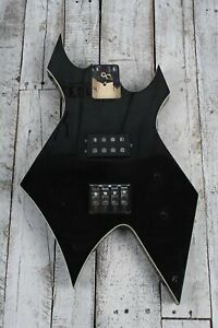 BC-Rich-Warlock-Electric-Bass-Guitar-Body-w-Humbucker-Pickup-and-Backplate-Black
