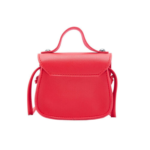 Kids Girls PU Bowknot Crossbody Messenger Bag Wallet Purse Handbag Solid Gift