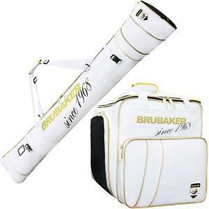 BRUBAKER-Ski-Bag-Combo-Boot-Bag-and-Ski-Bag-White-Golden-66-7-8-034-170-cm
