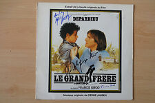 "Le Grand Frere Autogramme ""Gerard Depardieu"" signed LP-Cover ""Soundtrack"" Vinyl"