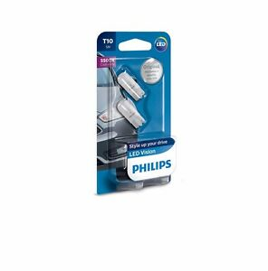 w5w philips t10 led light bulb 2pcs 5500k white ebay. Black Bedroom Furniture Sets. Home Design Ideas