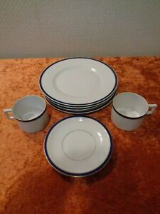 8-PC-Convolute-from-Coffee-Service-Porcelain-Art-Deco-around-1920-Vintage