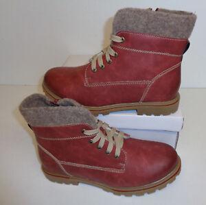 Ladies Bordo Red Ankle Boots Block Zip