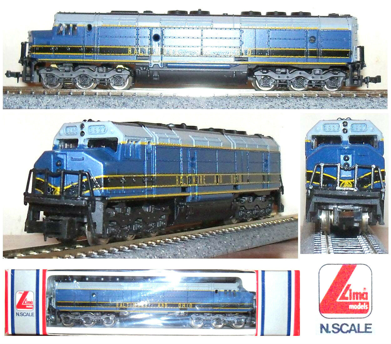 Lima 320313 Locomotive Diesel emd-7 Long to 6 axes Baltimore & Ohio Box Scale-N