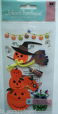 PUMPKINS Dimensional Stickers JOLEE'S BOUTIQUE; Halloween Party JACK-O-LANTERNS