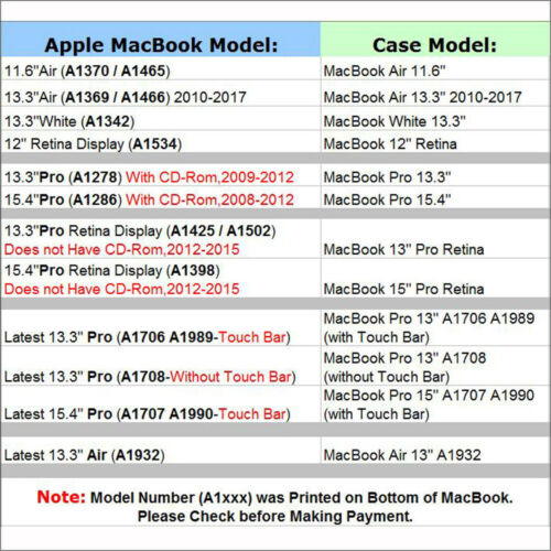 "Pattern Matte Hard Protective Case Skin for MacBook Air 13/""// Pro 13/"" 2016-2019"