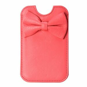 Red-Valentino-Women-039-s-Leather-Bow-Decorated-Pink-Pouch-Iphone-Case-5-5S