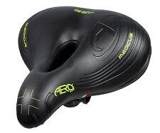 Aero Sport® Bicycle Bike Gel Medicus Gents / Ladies Womens Saddle Black