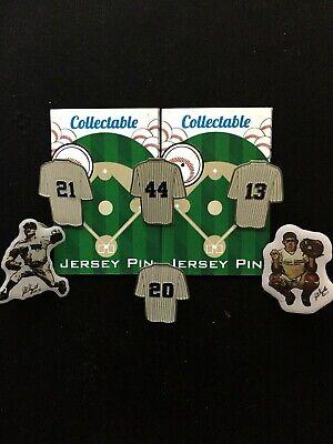 Whitey & Mehr Knitterfestigkeit New York Yankees Trikot Revers Pins-6-collectibles-reggie Yogi