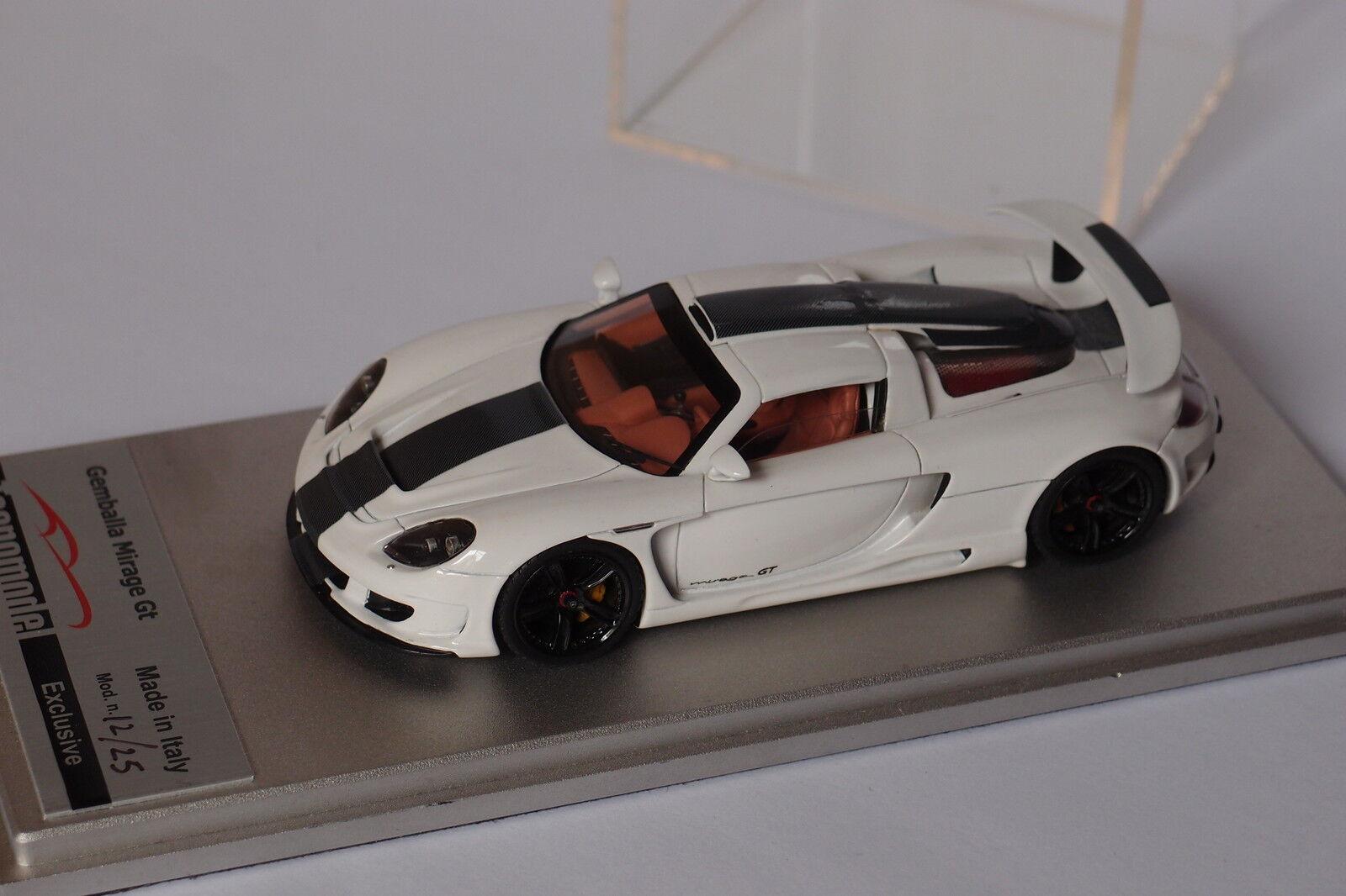 TECNOMODEL GEMBALLA MIRAGE GT white BANDE blackE 1 43