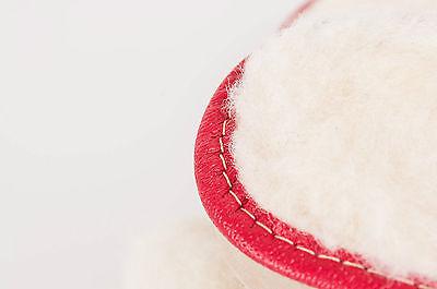 Women's/Zapatillas de invierno señoras de cuero 100% Natural & SHEEPWOOL Tamaño: UK3, 4,5,6,7,8