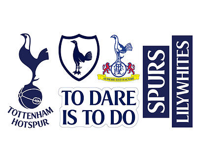 Tottenham Hotspur Football Club Official Crest Spurs Wall Sticker Decal Set Ebay