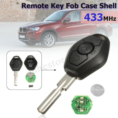 Full Remote Key Fob Transmitter For BMW 3 5 7 Series E38 E39 E46 315MHZ//433MHZ