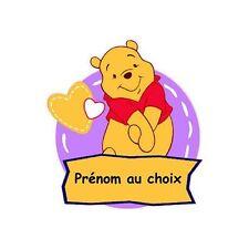 Winnie ourson Sticker Autocollant Personnalisé Prénom Chambre Enfant Bébé winnie